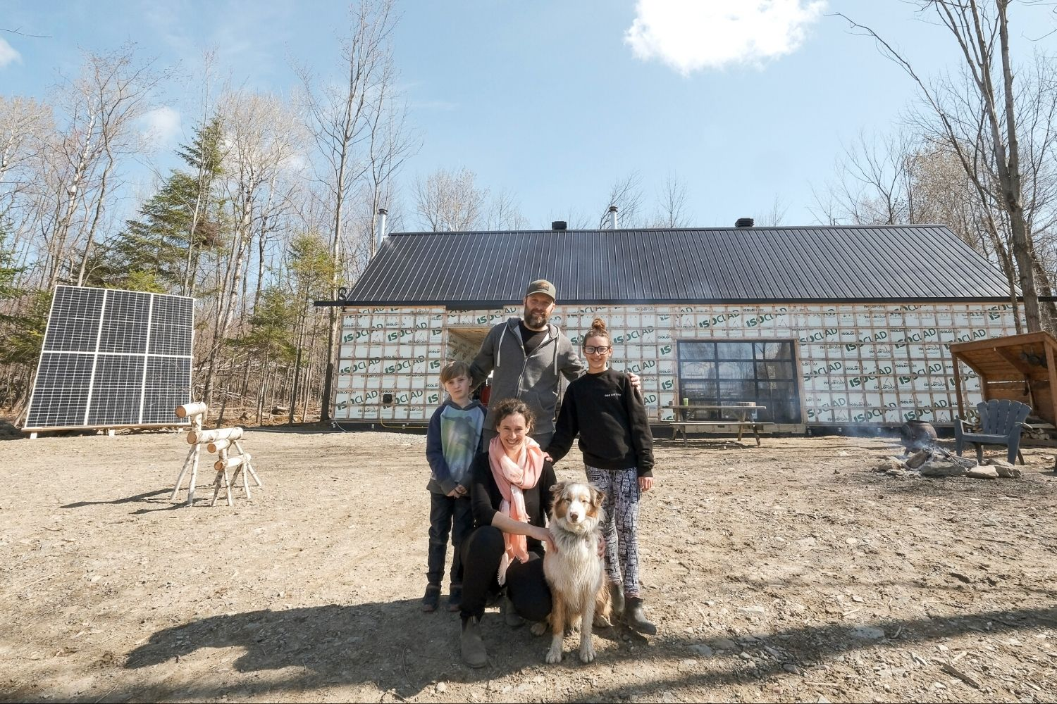 Jacob Pruneau famille - Maison off grid